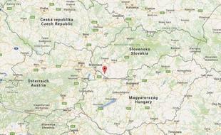 Google map de Gabčíkovo en Slovaquie