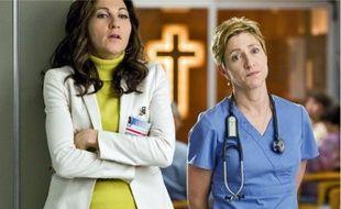 Un peu de Vicodin et ça repart pour l'infirmière Jackie (Edie Falco, à droite).