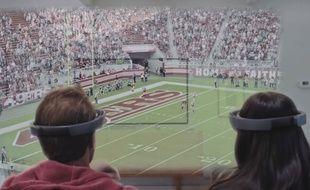 Microsoft a publié une vidéo pour montrer ce que son casque de réalité virtuelle peut apporter à une soirée sport.