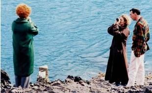 Kerry Fox, Jane Campion et le directeur de la photographie Stuart Dryburgh, sur le tournage d'Un ange à ma table (1990).