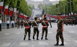 Illustration du défilé militaire du 14 juillet 2015 à Paris.