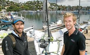 Noé Delpech (à g) et Julien d'Ortoli (à dr) visent un Top 8 dans ce mondial.