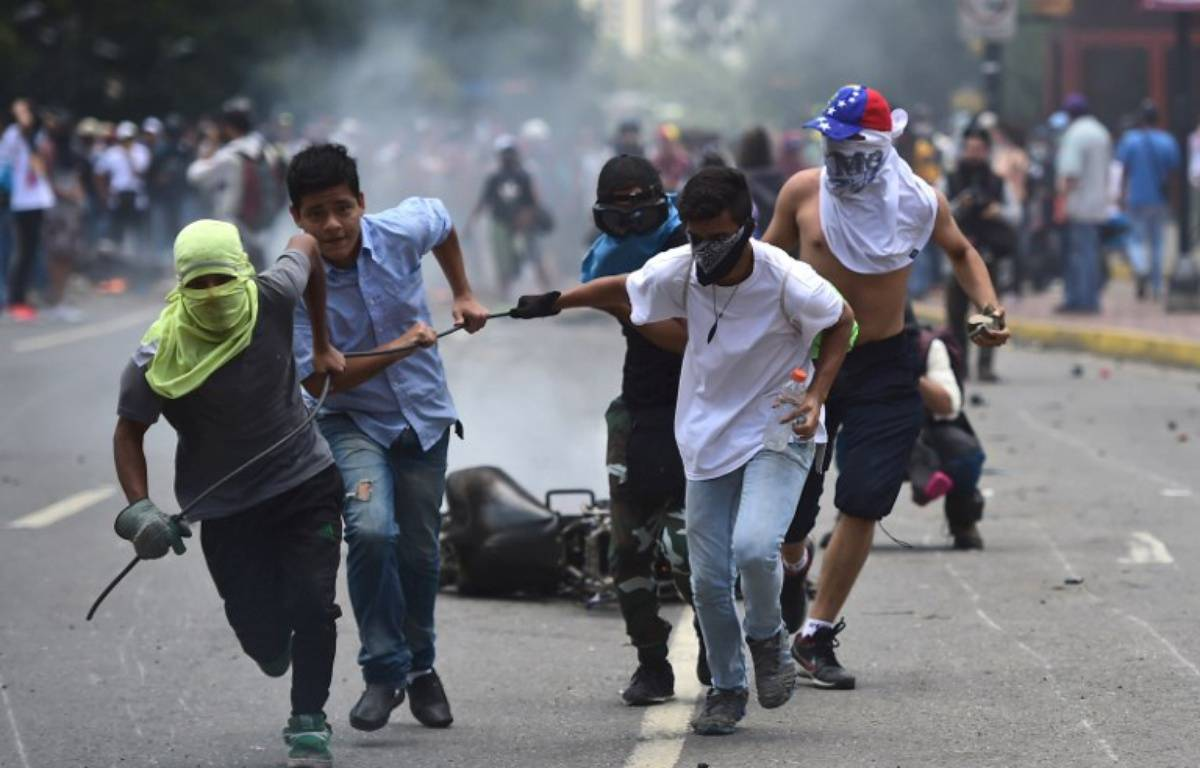 Une manifestation antirégime à Caracas, au Venezuela, le 30 juillet 2017, jour de l'élection de l'Assemblée Constituante. – Ronaldo SCHEMIDT / AFP