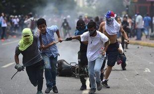 Une manifestation antirégime à Caracas, au Venezuela, le 30 juillet 2017, jour de l'élection de l'Assemblée Constituante.