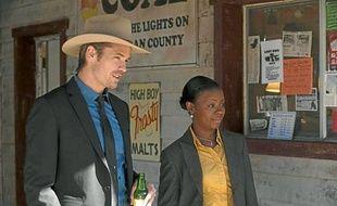 Le Marshall Raylan Givens (incarné par Timothy Olyphant) a été mutédans son Kentucky natal pour cause de mauvaise conduite.