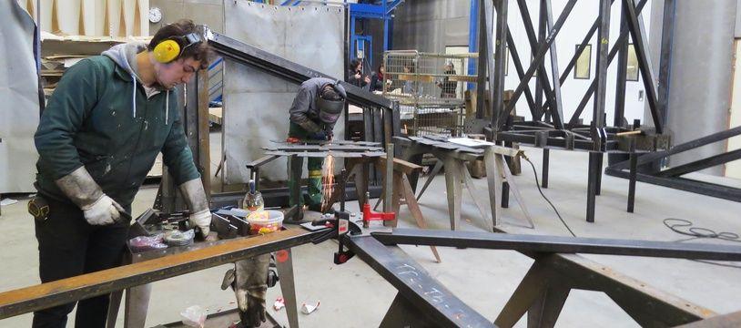 La structure du Vaisseau spatial est conçue à l'atelier nantais Metalobil.