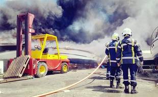 Les sapeurs-pompiers sont parvenus à circonscrire l'incendie, à Aimargues