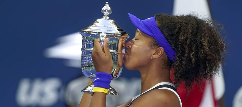 Naomi Osaka lors de sa victoire à l'US Open, à New York le 12 septembre 2020.