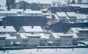 Dans le village de Gjerdrum, à 25 kilomètres au nord d'Oslo, ce matin.