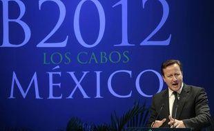 David Cameron, devant le B20, le 18 juin à Los Cabos au Mexique.
