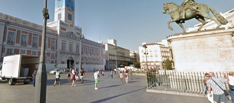 Place Puerto del sol. Madrid. Capture d'écran Google Map