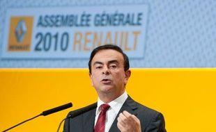 Le président de Renault, Carlos Ghosn, le 30 avril 2010. Ila gagné 9,2 millions d'euros en 2009.