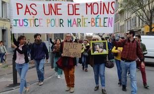 Environ 250 personnes ont rendu hommage à Marie-Bélen, tuée le 17 mars à Marseille.