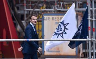 Emmanuel Macron était venu au chantier naval en février 2016