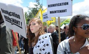 Nantes, le 16 juin 2011, manifestation pour la réunification de la Loire-Atlantique et de laBretagne.
