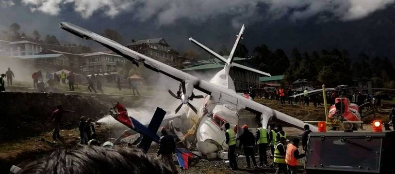 L'accident d'avion survenu dimanche 14 avril 2019 à l'aéroport de Lukla (Népal), à proximité du mont Everest.
