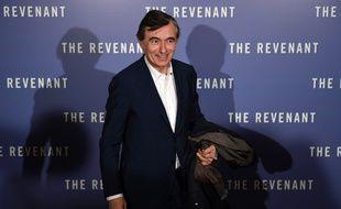 """Philippe Douste-Blazy a la première du film """"The Revenant"""" à Paris en janvier 2016."""