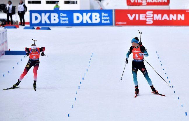 VIDEO. Biathlon : Le sprint de fou furieux de Jacquelin pour remporter son premier titre mondial devant Boe