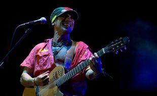 Manu Chao lors d'un concert à Montevideo, le 21 novembre 2012
