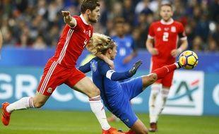 Antoine Griezmann face au Pays de Galles en novembre dernier, au Stade de France.