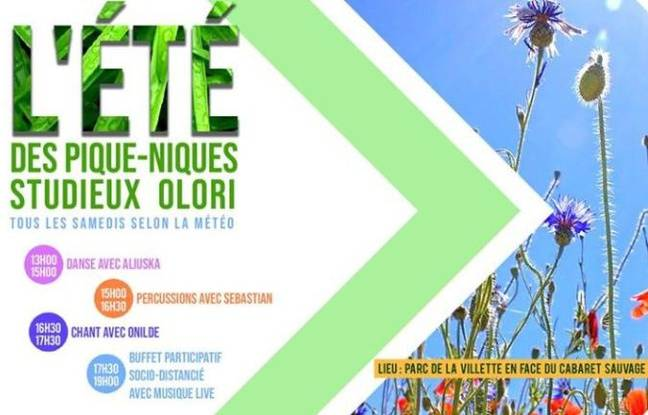 Visuel officiel des pique-niques latino de la Villette