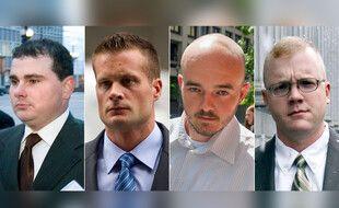 Quatre ex-employés de Blackwater condamnés pour le meurtres de civils irakiens: Dustin Heard, Evan Liberty, Nicholas Slatten and Paul Slough,