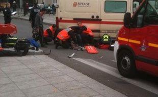 Accident de la circulation à Paris porte d'Orléans