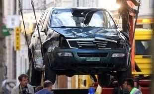 La voiture d el'homme qui a foncé dans la foule en Autriche, le 20 juin 2015