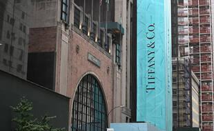 Une enseigne Tiffany, à New York le 10 septembre 2020.