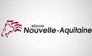 Un lion crinière au vent en guise de nouveau logo pour la région Nouvelle-Aquitaine.