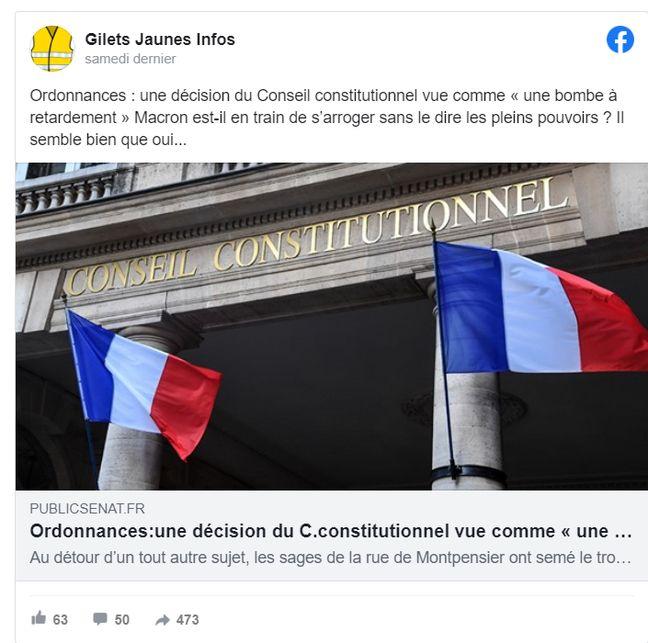 Ce groupe Facebook s'inquiète d'une décision du Conseil constitutionnel