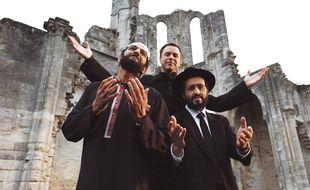 Ramzy Bedia, Guillame de Tonquédec et Jonathan Cohen dans Coexister de Fabrice Eboué