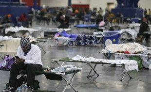Au Texas, des habitants privés d'électricité ont été hébergés dans des gymnases, le 17 février 2021.