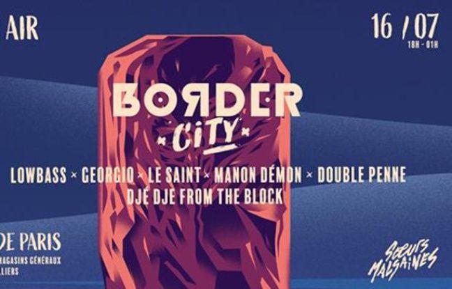 Visuel officiel de la soirée Border City x Soeurs Malsaines au Chateauform' d'Aubervilliers
