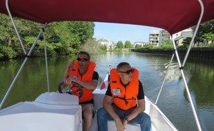 Les bateaux permettent de s'échapper en pleine nature, en naviguant seulement quelques centaines de mètres sur la Vilaine.
