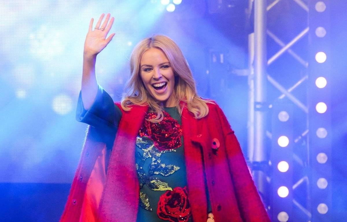 Kylie Minogue, à Londres, le 1er novembre 2015, lors de l'inauguration des illuminations de Noël sur Oxford Street. Jonathan Hordle/REX Shutterstock – Jonathan Hordle/REX Shu/SIPA
