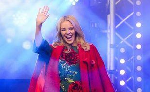 Kylie Minogue, à Londres, le 1er novembre 2015, lors de l'inauguration des illuminations de Noël sur Oxford Street. Jonathan Hordle/REX Shutterstock