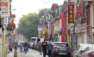 La rue Jules-Guesde, à Lille-Wazemmes