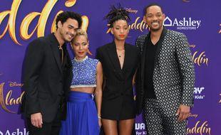 La famille Smith presque au complet, de gauche à droite: Trey, Jada, Willow et Will Smith