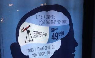 La publicité polémique lancée par Cdiscount pour les soldes d'hiver, en janvier 2018.
