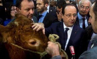 A huit heures du matin, il a déjà englouti une brochette d'agneau, quelques bouchées de boeuf et du fromage avec un verre de blanc: François Hollande s'est plié samedi aux figures imposées d'un président en visite au Salon de l'agriculture, dans un climat étonnamment chaleureux.