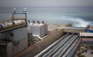 Une usine de dessalement d'eau de mer à Hadera, en Israël, le 16 mai 2010.