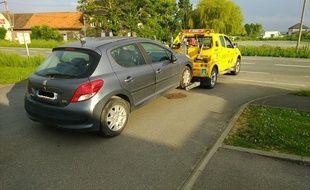 La voiture de l'automobiliste qui conduisait sans permis depuis 20 ans.