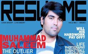 A 27 ans, Muhammed Saleem a trouvé une façon originale de se démarquer pour trouver un emploi: un CV rédigé sous forme de magazine de mode.