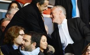 Nicolas Sarkozy et Didier Deschamps au Parc des Princes.