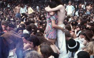 Un rassemblement à Hype Park en 1969