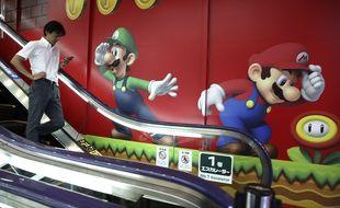Une publicité pour Nintendo dans un magasin à Tokyo, en juillet 2015.