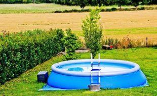 Illustration d'une piscine autoportée