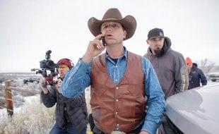 Ryan Bundy, membre d'un mouvement de militants anti-gouvernementaux armés qui occupent le parc naturel Malheur, le 7 janvier 2016 à Burns, dans l'Oregon