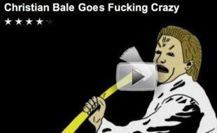Capture d'écran d'une des parodies, en vidéo, de la colère de Christian Bale